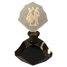 Gorgeous Czechoslovakian Glass Perfume Intaglio