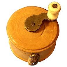 Antique Victorian Wooden Tape Measure Winder