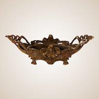 Gorgeous Antique Art Nouveau Jugendstil Bronze Centerpiece Dish