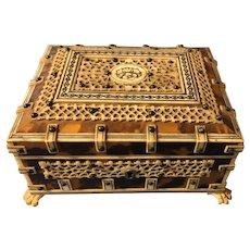 Amazing Antique Anglo-Indian Vizagapatam Box
