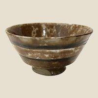 Rare Antique Rockingham Glaze Tea Bowl 1850s