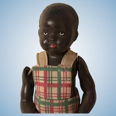 Amazing Antique Celluloid Black Americana Boy Doll France
