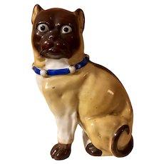 Best Victorian Porcelain Pug Mantle Figure 19th C