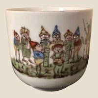 Antique Palmer Cox Brownies Porcelain Baby's Mug