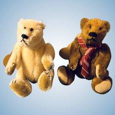 Pair Vintage Bearly There Artist Bears Ltd Ed