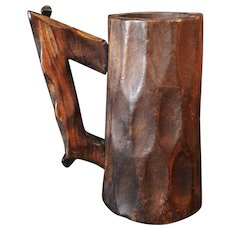 Beautiful Arts & Crafts Style Dark Wooden Stein Square Nails