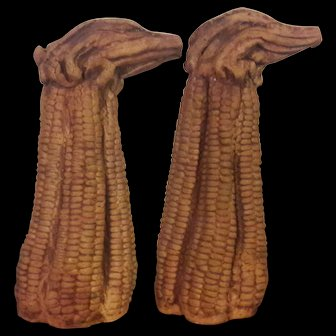 Two Vintage (1970's) Corn in the Cobb Vases