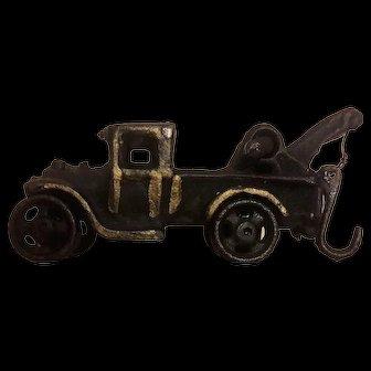 Vintage Cast Iron Tow Truck