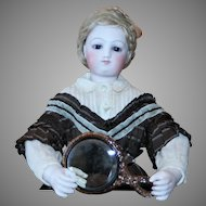 A Beautiful Beveled Doll Hand Mirror