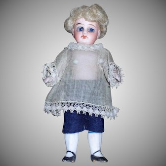 Little German All Bisque with Original Clothing