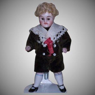 Precious Little German All-Bisque Boy - All Original