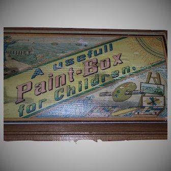 A Fantastic Child's Antique Paint Box