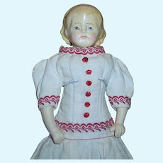 A Darling Tiny 9 Inch Alice Papier Mache
