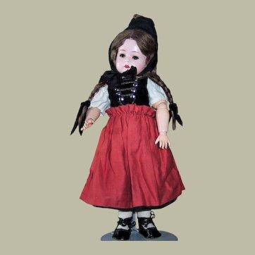 Antique Painted Bisque Konig & Wernicke Toddler Doll in Regional Costume