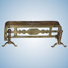 Vintage Miniature Dollhouse Solid Brass Fireplace Fender and Andirons