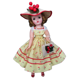 Lovely Cissy in  Cherry Print Outfit complete With Hat/Bag
