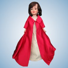 "Jackie Kennedy in Ball Gown and coat 21"" tall 1962 Only"