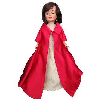 """Jackie Kennedy in Ball Gown and coat 21"""" tall 1962 Only"""
