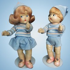 5e27394329 Pair of Vogue Toodles Dolls by Vogue All Original Tagged Outfits 1942-43
