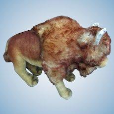 "Large Steiff Bison (Buffalo) 14"" long wool mohair  1960's"