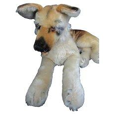 "Steiff Arco the German Shepherd Dog 13"" long wool mohair glass eyes 1957-58"
