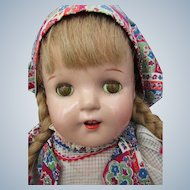"Mint Petite Sally Doll by American Character 19"" Tall, Composition No Crazing All Original Lovely Doll"