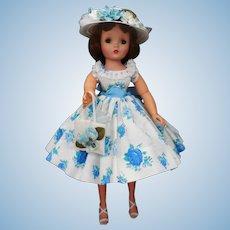 Lovely Cissy Doll inblue Rosebud Dress
