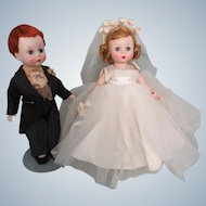 Alexanderkins Bride and Groom !954-55 Mint Condition All Original