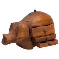 Deborah Bump Rhino Jewelry Box