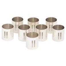 Swid Powell Richard Meier Design Set of 8 Napkin Rings