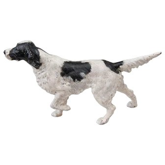 Early Hubley Large Cast Iron Sporting Dog Setter Doorstop