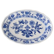 Antique English Meissen Porcelain Blue Onion Platter