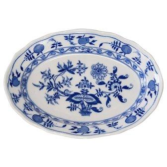 Antique English Meissen Porcelain Blue Onion Platter