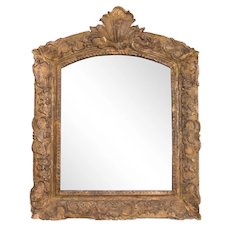 Antique 19th-Century French Giltwood Carved Mirror