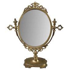 Vintage Brass Vanity Table Dressing Mirror