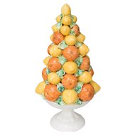 Large Italian Lemons & Oranges Topiary Centerpiece