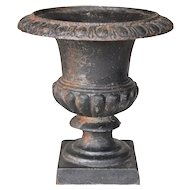 French Neoclassical Cast Iron Urn Planter