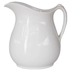 19th-Century English White Ironstone Pitcher