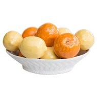 Vintage Italian Majolica Bowl of Lemons and Oranges