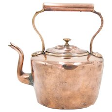 Antique 19th C. English Copper Tea Kettle