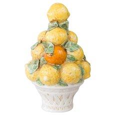 Vintage Italian Majolica Lemons & Oranges Topiary