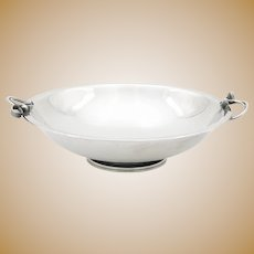 Art Deco Silver Plate Danish Footed Bowl
