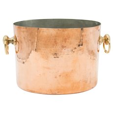 Antique French Hammered Copper Double Champagne Bucket