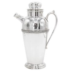 1930s Art Deco Silver Plate Cocktail Shaker