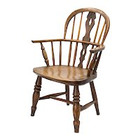 Antique 19th-Century English Windsor Child's Chair