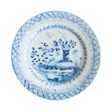 19th-Century Antique Dutch Delft Plate Staples Restoration