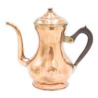 Antique 19th C. English Copper & Brass Tea Kettle Teapot