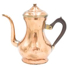 Antique 19th C. English Copper & Brass Tea Kettle Teapot