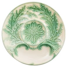 French Gien Majolica Artichoke Plates, 6 Available