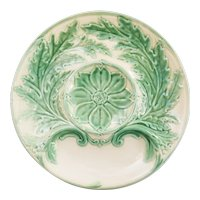 French Gien Majolica Artichoke Plates, 3 Available